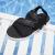 361度スリッパ2019夏新品男性靴ファッション网布サンダル671926730-2曜石黒/マグマレッド40