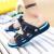 ブランドスリッパ男性サンダル男性夏場バスルーム内外のビーチ靴男性穴靴の1つ1つのスライド止め学生用スリッパの深さと青さの基準番号40