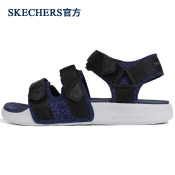 Skecheers Skecheersオフィシャル紳士靴夏の快適性耐摩耗性滑り止めビーチ靴カジュアルサンダル666081ブルー/NVK 41