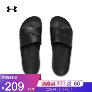 アンドマール公式UA Core Remix男女スポーツスリッパUnder Armmour 3021282黒002