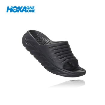 HOKA ONE男Ora Recoveryレジャー运动缓和スリッパ厚い底ダンピグが黒/黒US 9/270 mmを支えています。