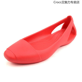 Crocscrocs公式サイトの新型洞穴靴女史仙アナフラットシューズカジュアルシューズビーチの先の冷たいスリッパの火の赤い39/40=W 8(内の長さ250)