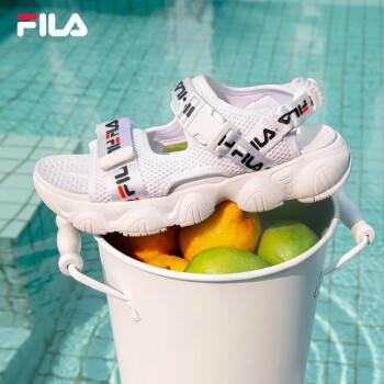 FILA婦人靴FILA公式スポーツサンダル女性マジックステッカー柔らか底軽量2020夏新品カジュアル靴グループ白-WT 36
