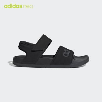 adidas公式adidas neo ADILE SANDAL男女サンダルF 35417号黒43(265 mm)