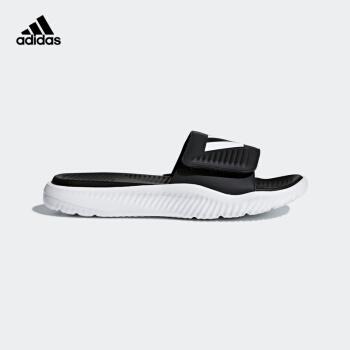 adidas公式サートadidas ALPHABOUTE SLIDE男性靴夏季水泳スポーツ凉しいスリッパBA 8775黒/白40.5(250 mm)