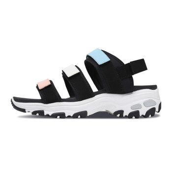 Skechers Skecheers公式婦人靴新型D'liesパンダ靴シンプルカジュアルサンダル66666108多カラー/MLT 35